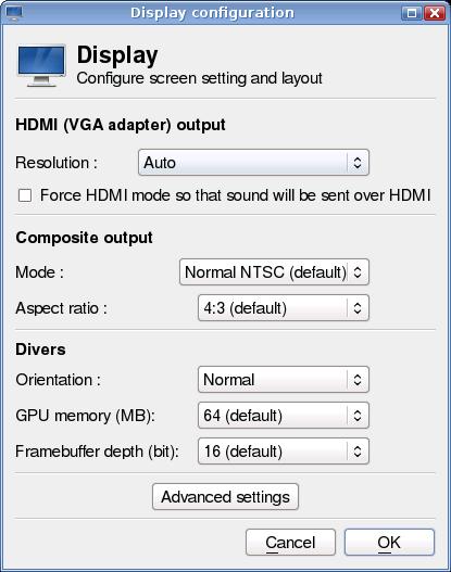 Display settings